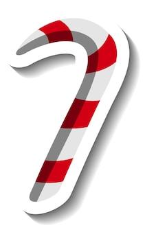 シンプルなクリスマスの甘い杖ステッカーテンプレート