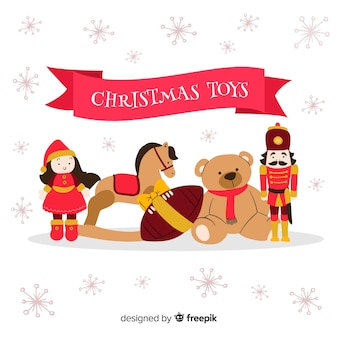 Simple christmas toys background