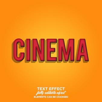 Simple cinema typography