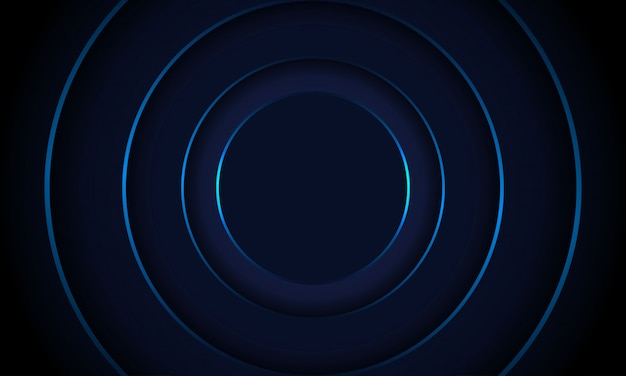 Simple circle dark blue background