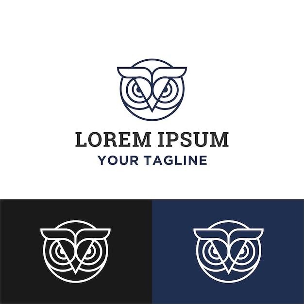 Simple circle owl logo