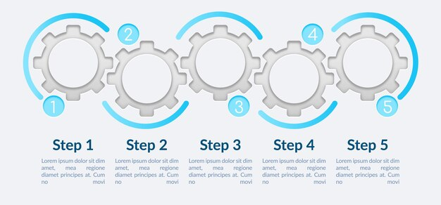 Simple circle steps infographic template