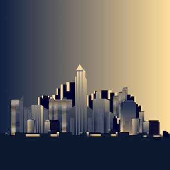 Simple City skyline