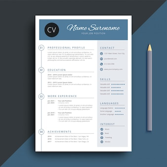 Simple and classy resume cv template