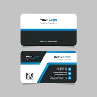 Simple and clean business card design