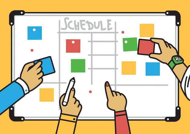 Simple clean planning board illustration