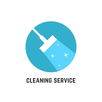 Simple cleaning service logotype. concept of squeegee, purification, wet cleaning, mop, cleanup badge, sweeping. isolated on white background. flat style trend modern brand design vector illustration