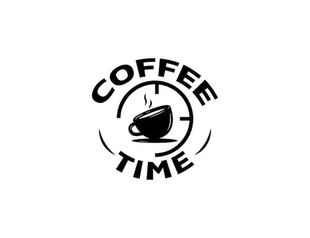 シンプルなコーヒータイムのロゴイラスト