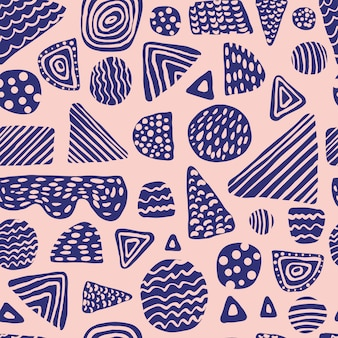 Simple colored shapes seamless pattern