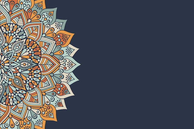 Простой красочный дизайн фона с круглым орнаментом