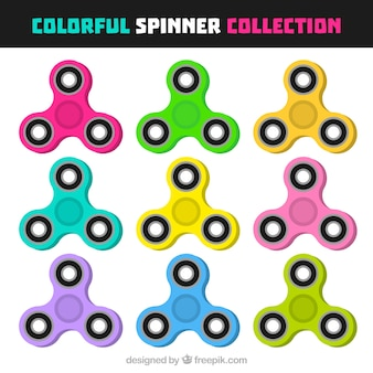 Simple colorful spinner collecti