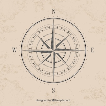 Simple compass cardinal points vector