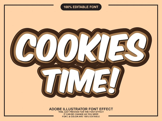 Simple cookies font effect
