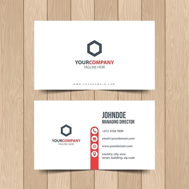Simple corporate business card.