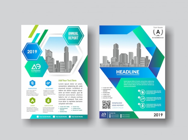 Simple cover layout brochure catalog flyer for background