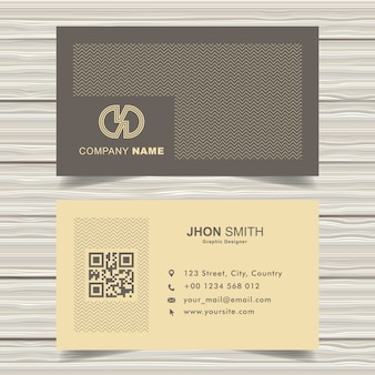 Simple cream memphic business card template
