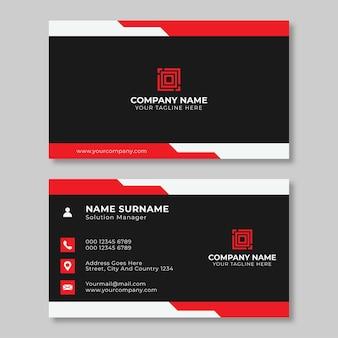 간단한 창조적 인 명함 디자인 아름다운 빨간색과 검은 색