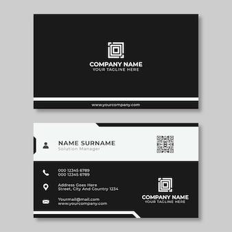 간단한 창조적 인 명함 디자인 블랙