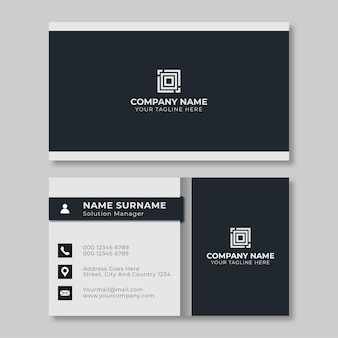 Simple creative business card design black
