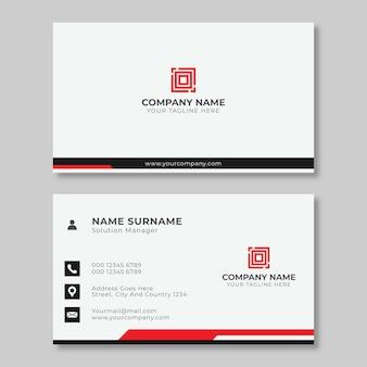 간단한 창조적 인 명함 디자인 빨간색과 검은 색 아름다운