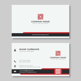 Simple creative red black business card design