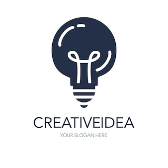 Simple creative success idea logo. innovation symbol. light bulb sign. design element for business startup, technology, science. icon concept of invention, study, imagination and creativity. vector