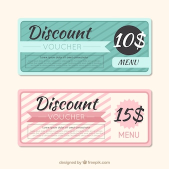 Simple cute discount vouchers