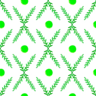 Simple and cute floral seamless pattern. spring branches and leaves
