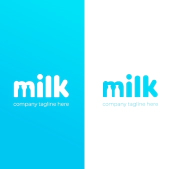 A simple cute logo for the brand of cow milk.