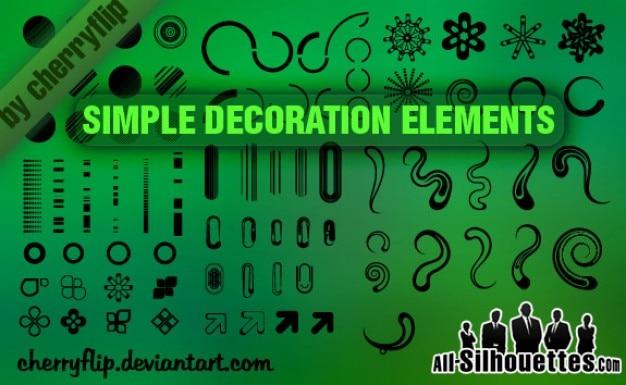 Simple decoration elements