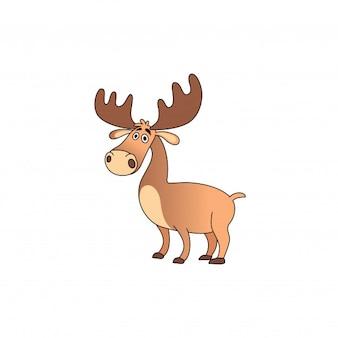 Simple deer cartoon