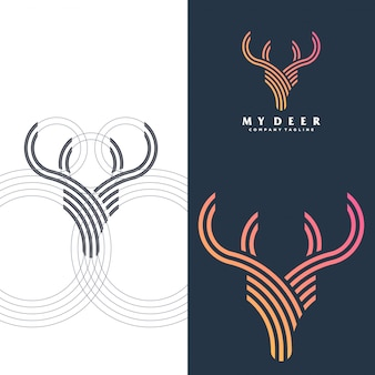 Simple deer logo