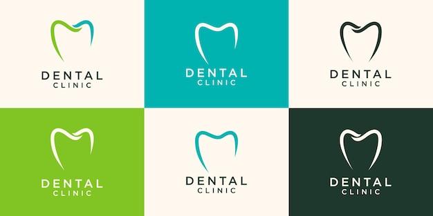 シンプルな歯科ロゴデザインテンプレートイラスト
