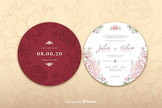 Simple  design concept for wedding invitation