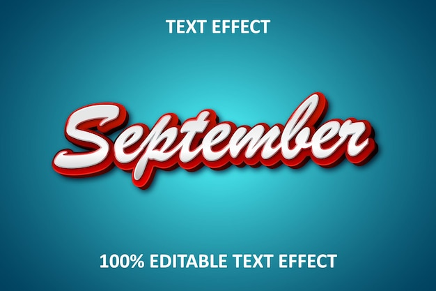 Simple design editable text effect red light blue