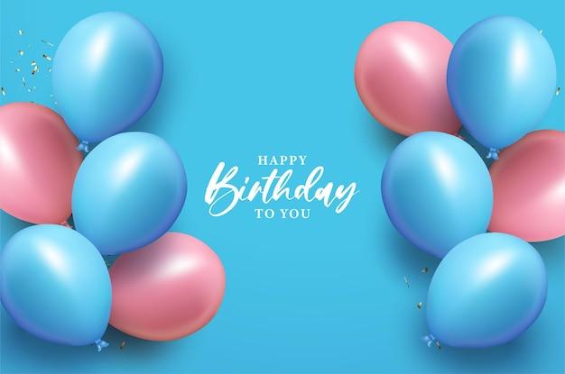 Simple design happy birthday background