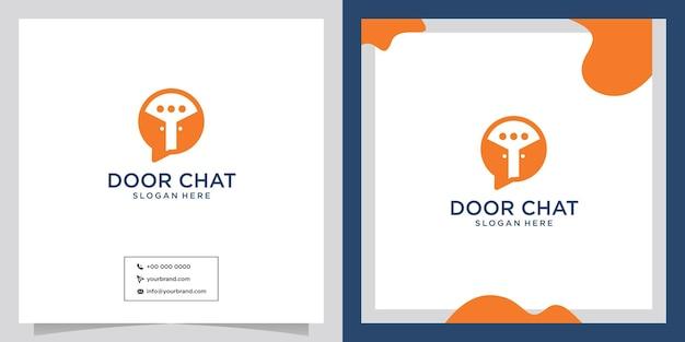 シンプルなドアトークのロゴデザイン