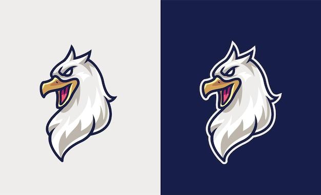 간단한 독수리 마스코트 esport 그림