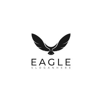 Simple eagle silhouette logo design