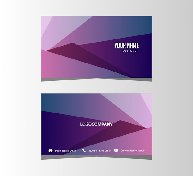 Simple elegant abstract business card background