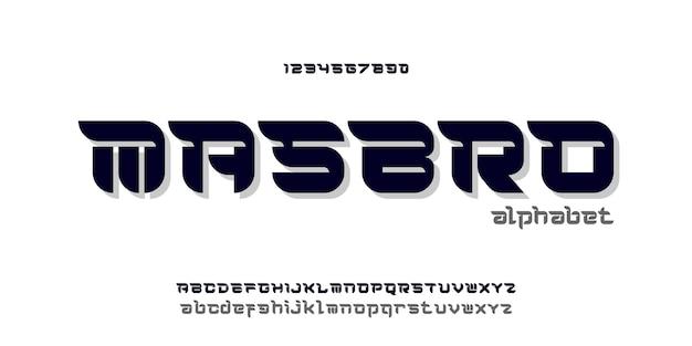 간단한 우아한 알파벳 글꼴과 숫자. 타이포그래피 글꼴 일반 대문자, 소문자 및 숫자