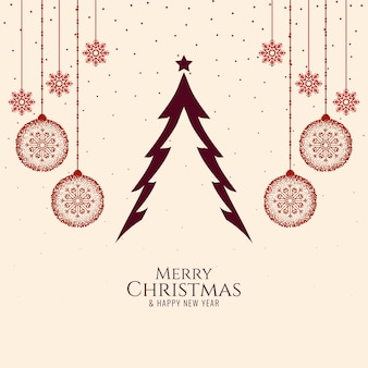 Simple elegant merry christmas festival celebration background