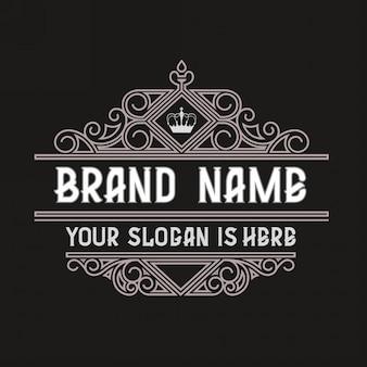 Simple and elegant vintage frame design template  vintage logo