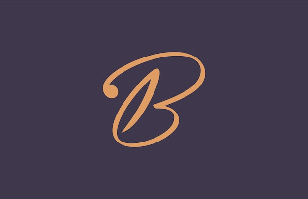 Simple emblem signature b logo