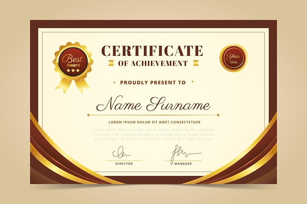 Simple employee of the month certificate