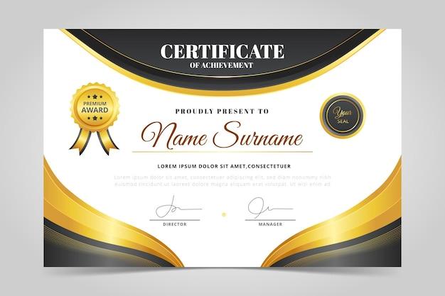 Certificato di dipendente del mese semplice