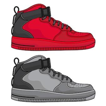 シンプルな日常の運動靴