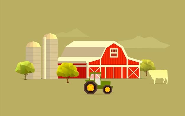 Simple farm landscape