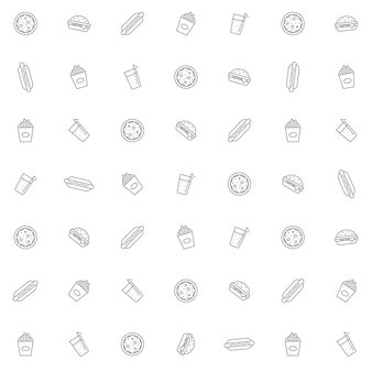 Simple fast food background