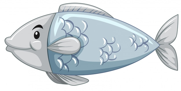 A simple fish cartoon character